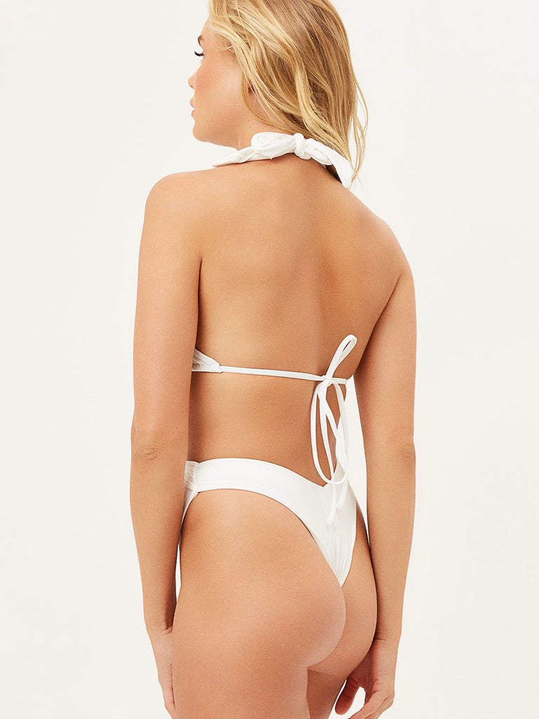 Bash Bottom in White by FRANKIES BIKINIS