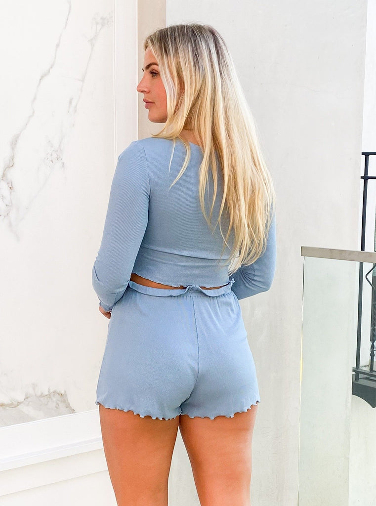 Chrissy Lounge Shorts in Blue