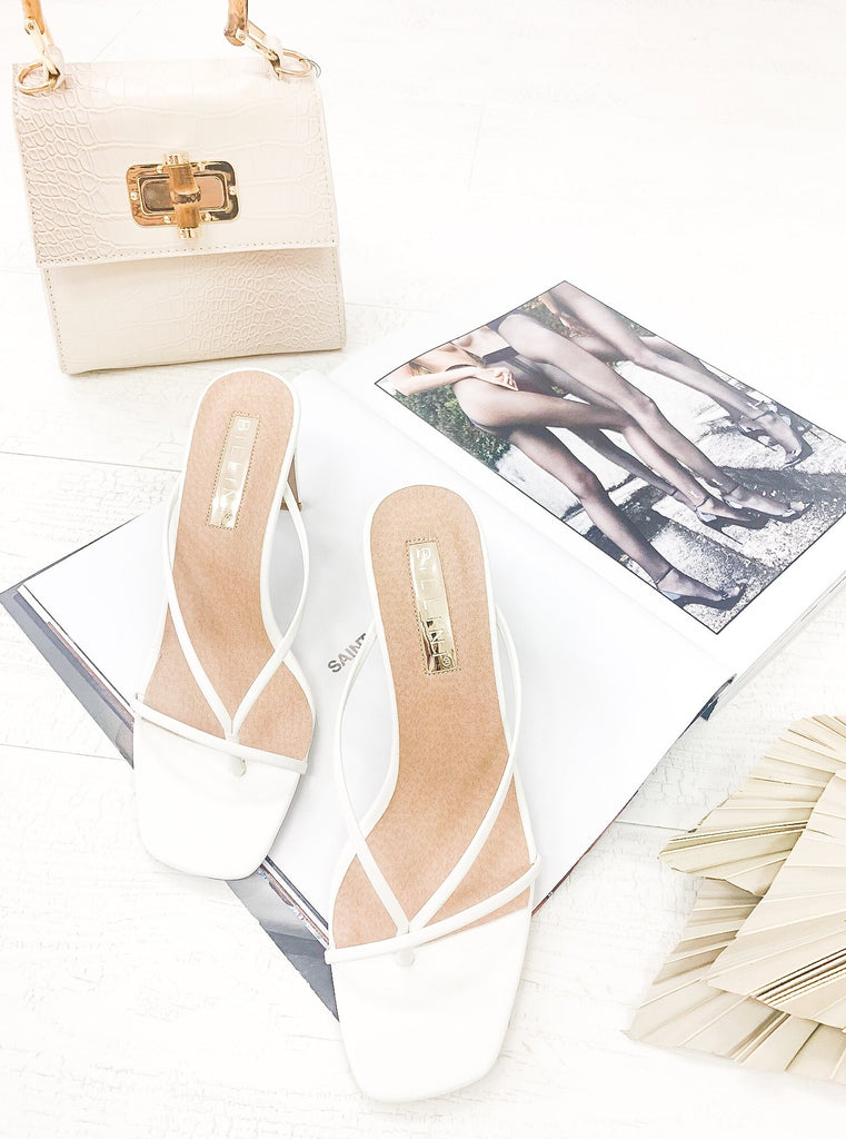 Silas Heels in White by BILLINI