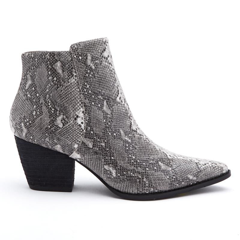 Astoria Booties in Grey Snake by MATISSE COCONUTS