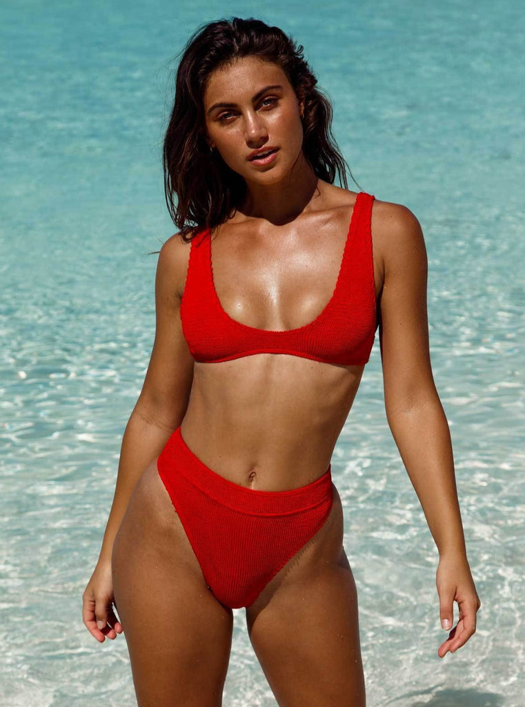 Scout Bikini Top in Baywatch Red by BOUND