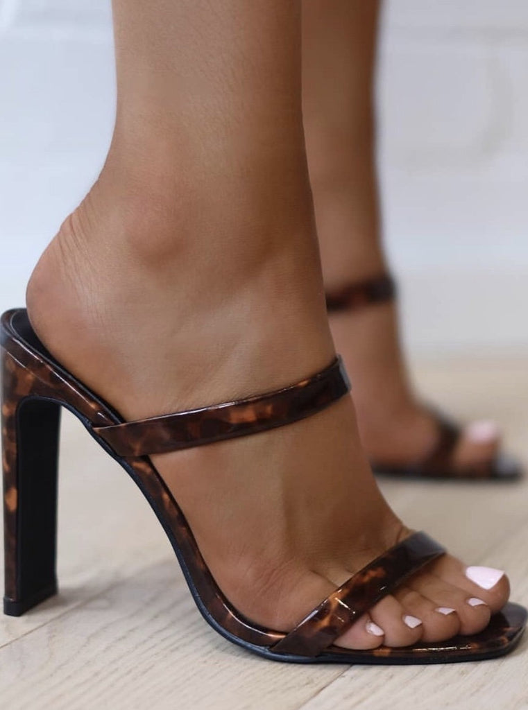 Dana Heels in Tortoise Shell by BILLINI