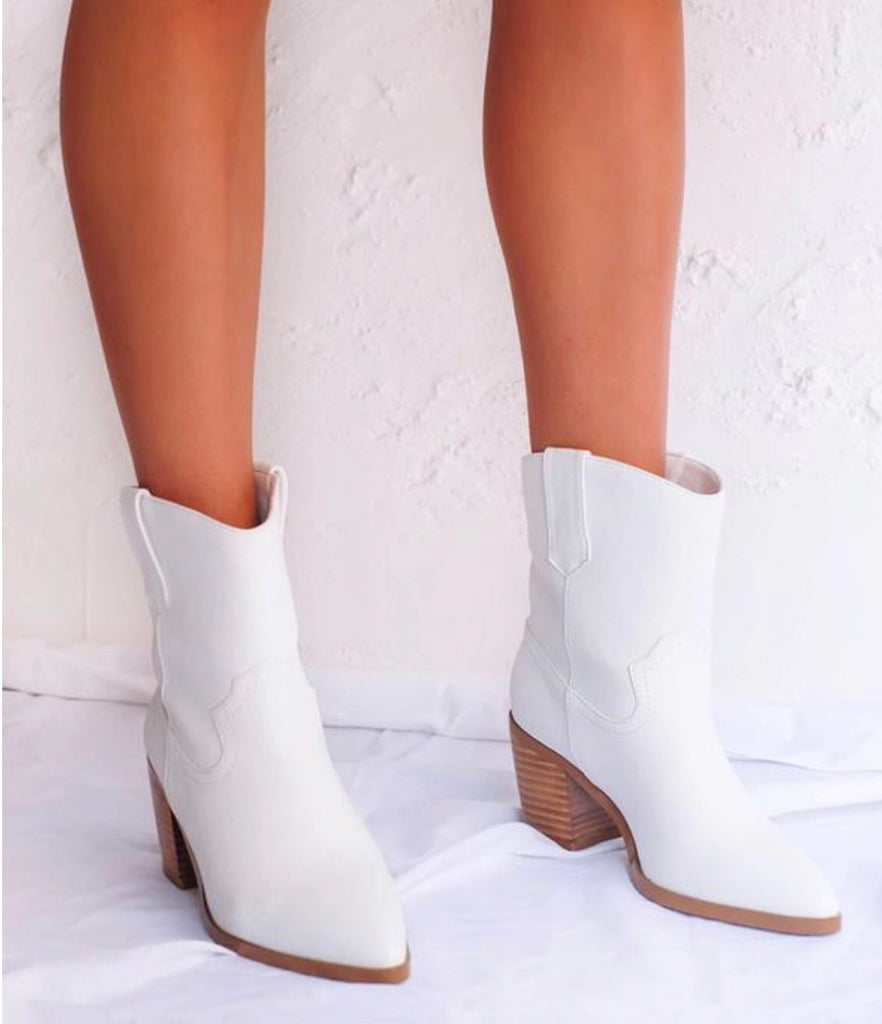 North Bootie in White by BILLINI