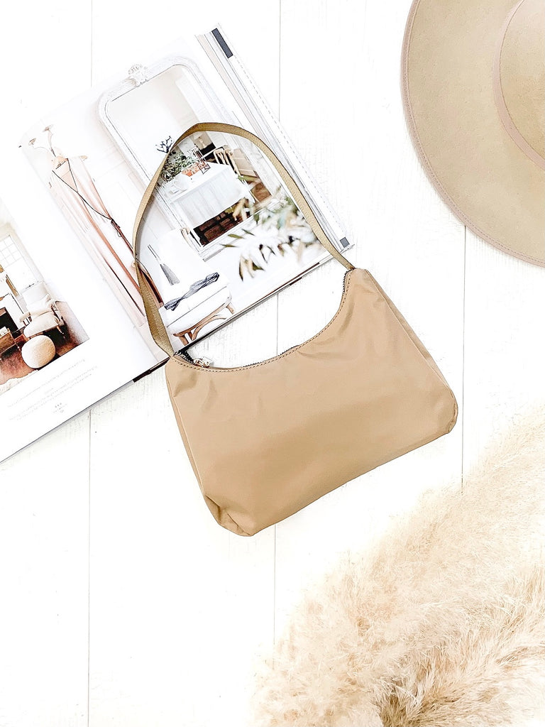 Rae Nylon Bag in Nude