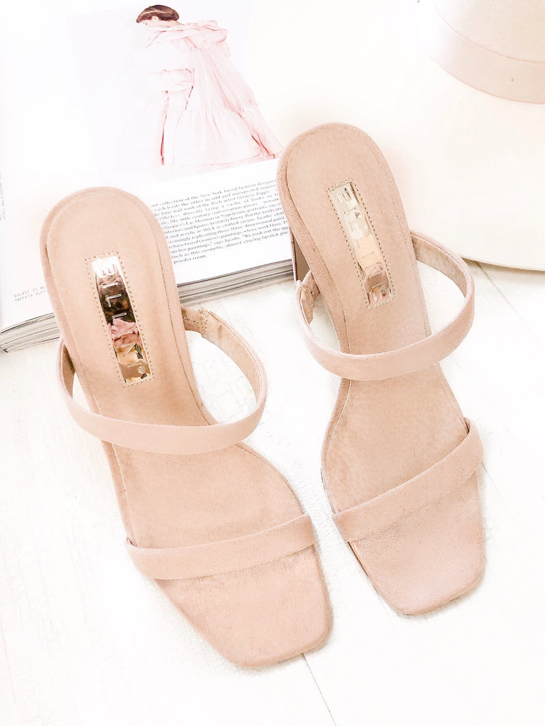 Dana Heels in Blush Suede by BILLINI
