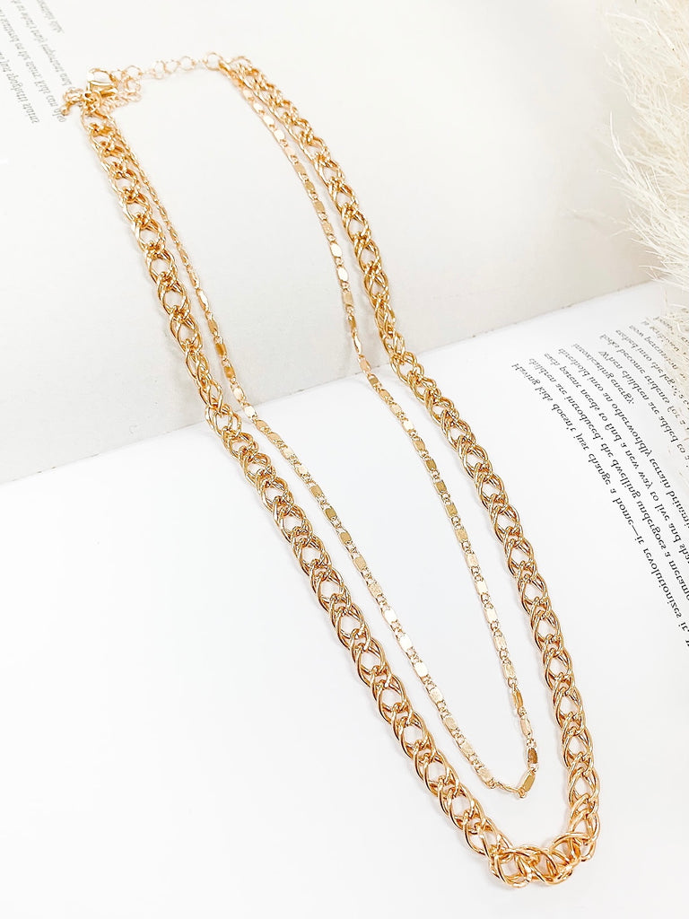 Lyric Double Chain Necklace