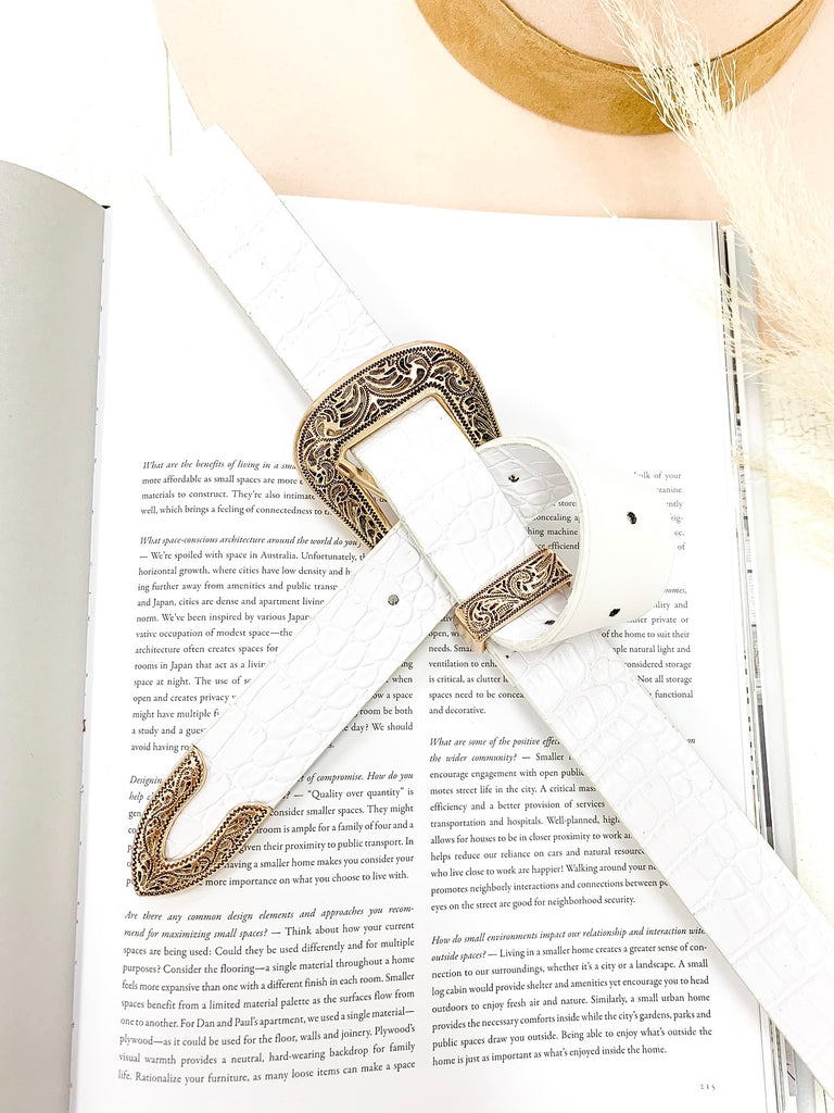 Ashton Belt in White