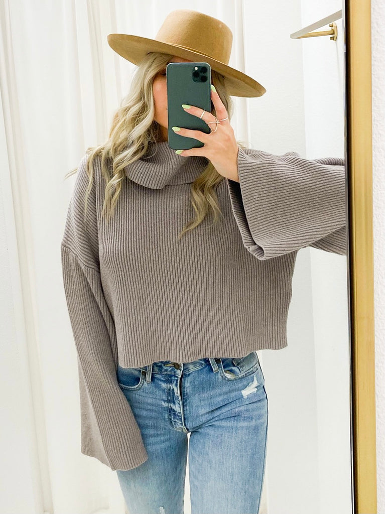 Slate Turtle Neck Sweater
