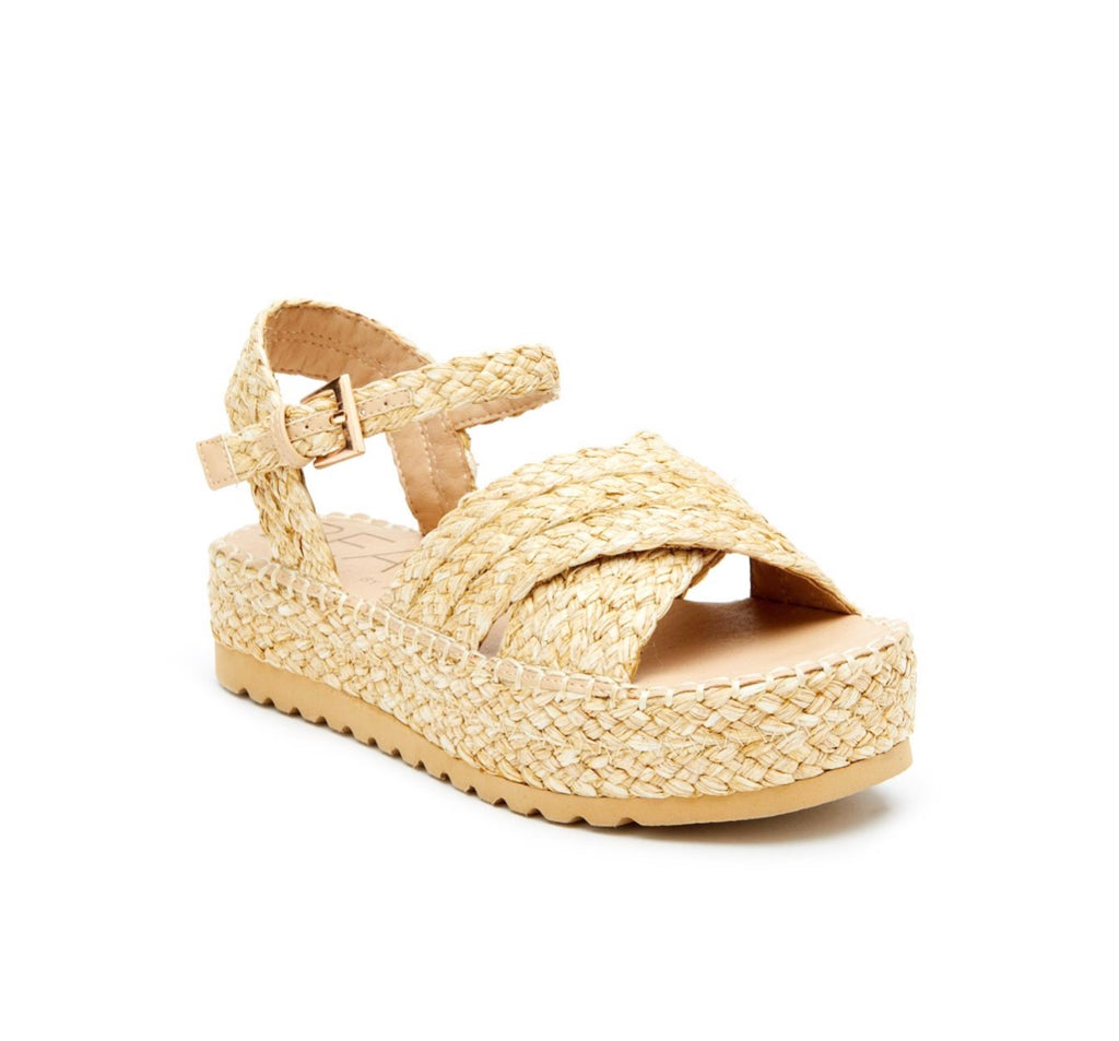 Sunshine Raffia Sandals in Natural by MATISSE BEACH