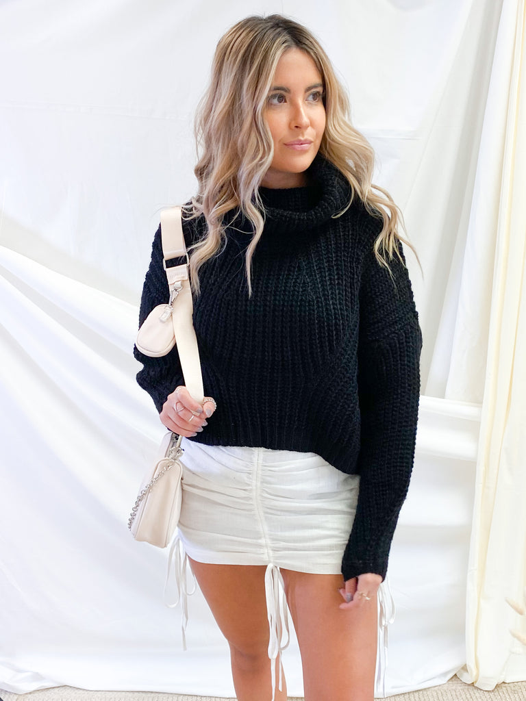Cold Spring Sweater in Black