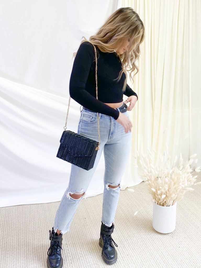 Ally High Rise Jeans in Light