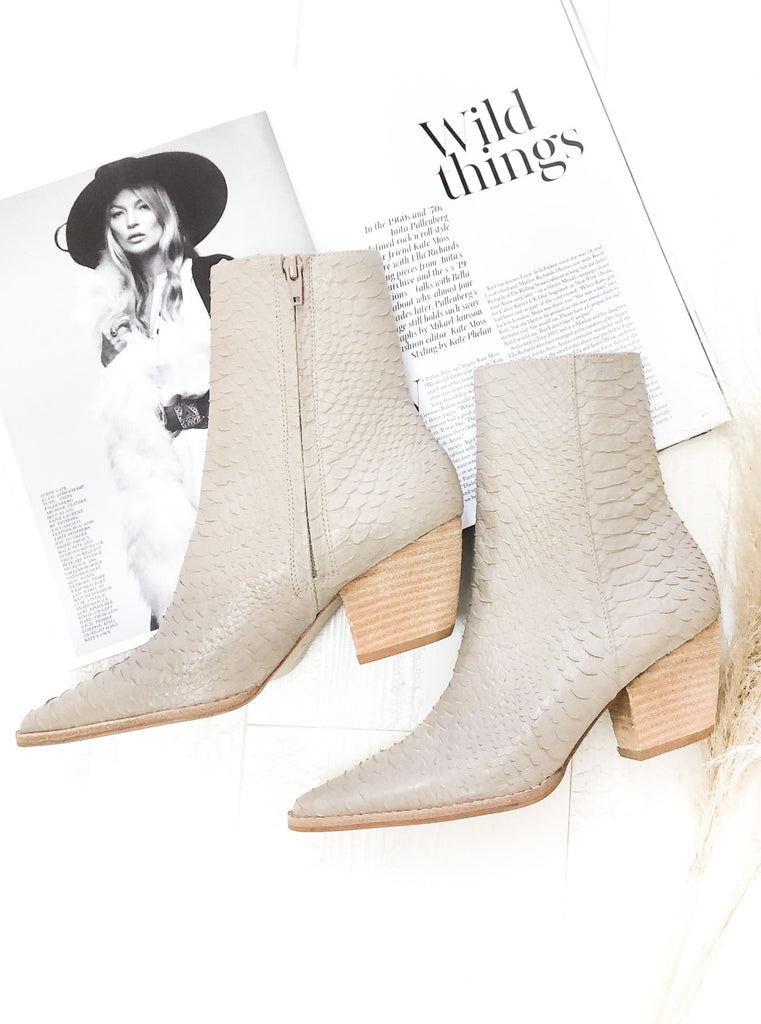 Caty Boots in Ivory Snake By MATISSE