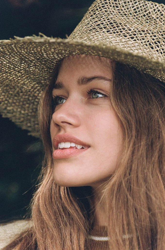 Sunny Dip Fray Fedora by LACK OF COLOR