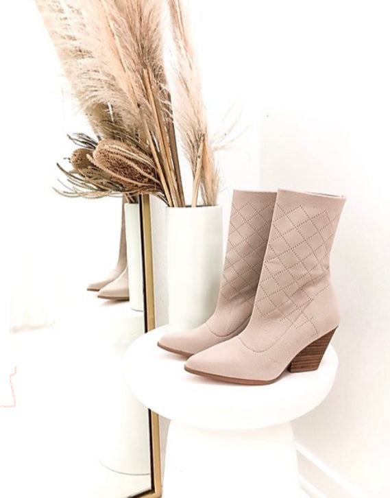 Samantha Sock Booties in Nude