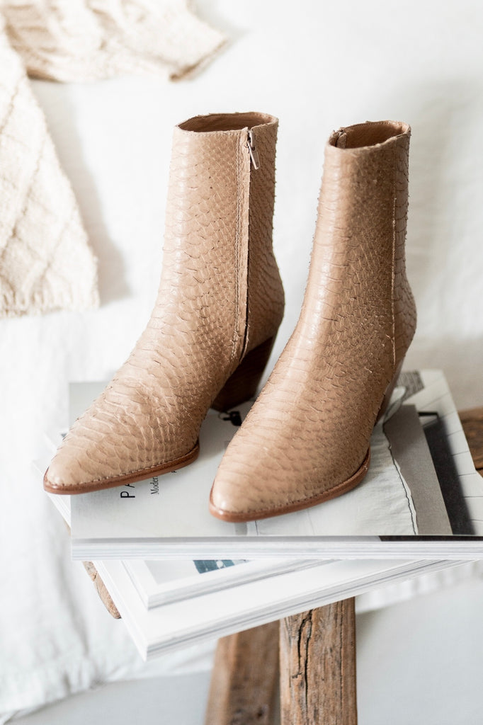 Caty Boots in Tan Snake by MATISSE