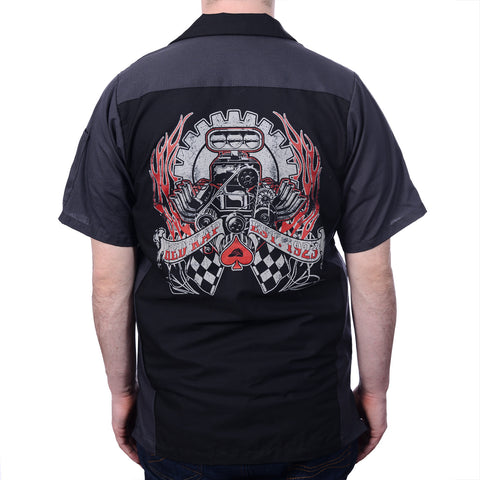 Men's Black/Charcoal Horsepower Crew Shirt