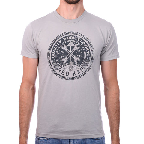 Men's Light Grey Wired Wrench T-Shirt