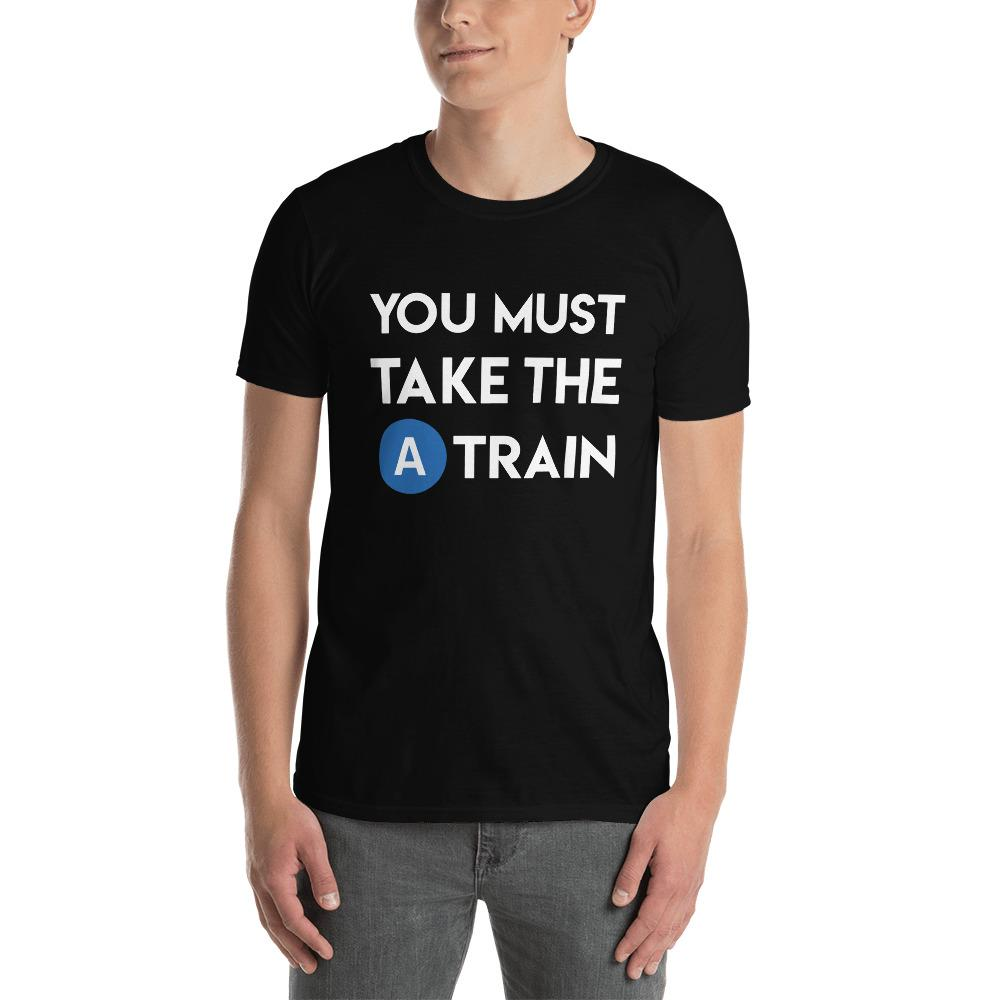 You Must Take The A-Train herenshirt - RIJNSE