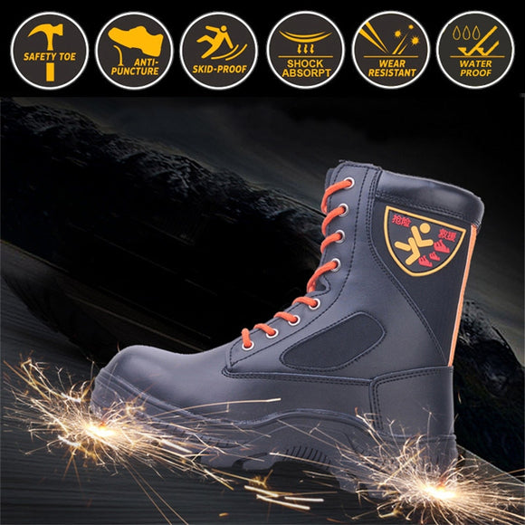 Steel Reinforced Fire Rescue Boots