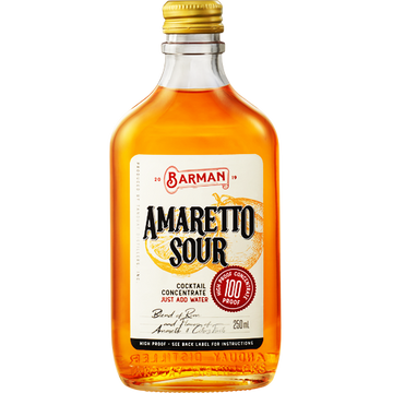 Barman Amaretto Sour Cocktail Concentrate 250 ml