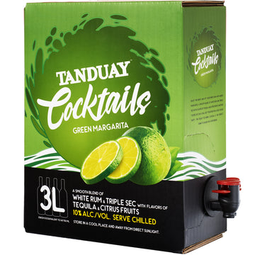 Tanduay Cocktails Green Margarita 3L