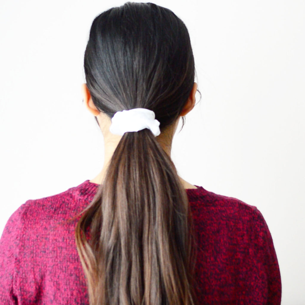 Classic super strong satin scrunchies.