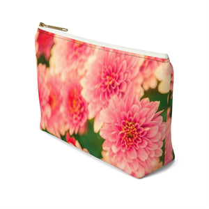 Makeup Bag Orange Flowers Small Right Side