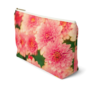 Makeup Bag Orange Flowers Large Right Side
