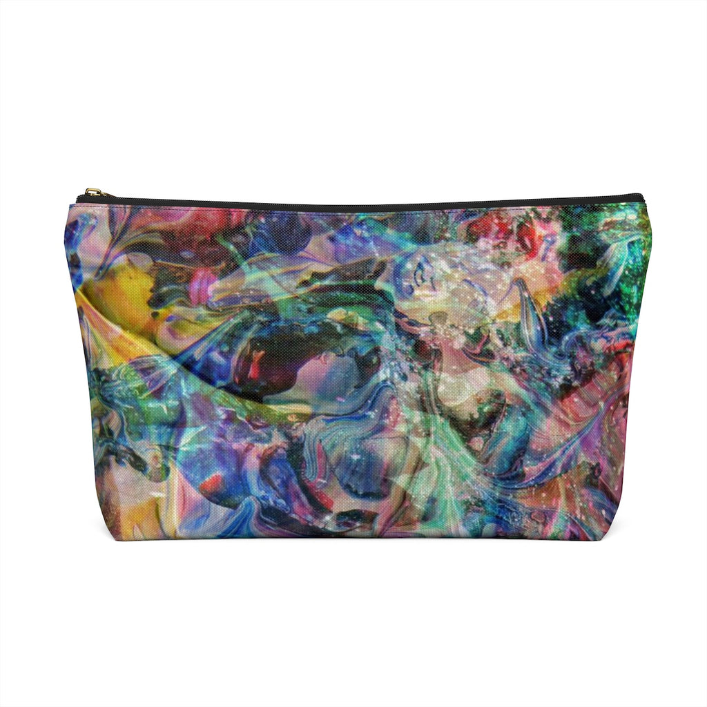 Makeup Bag Multicolored Abstract Art Large Back