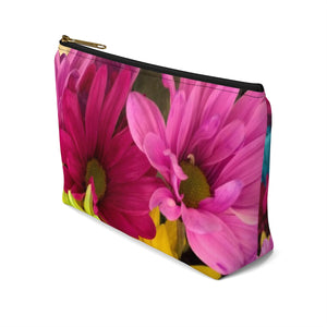 Makeup Bag Colorful Daisies Small Right Side