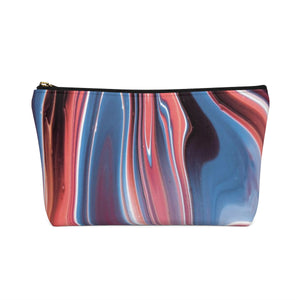 Makeup Bag Fluid Painting Small Back