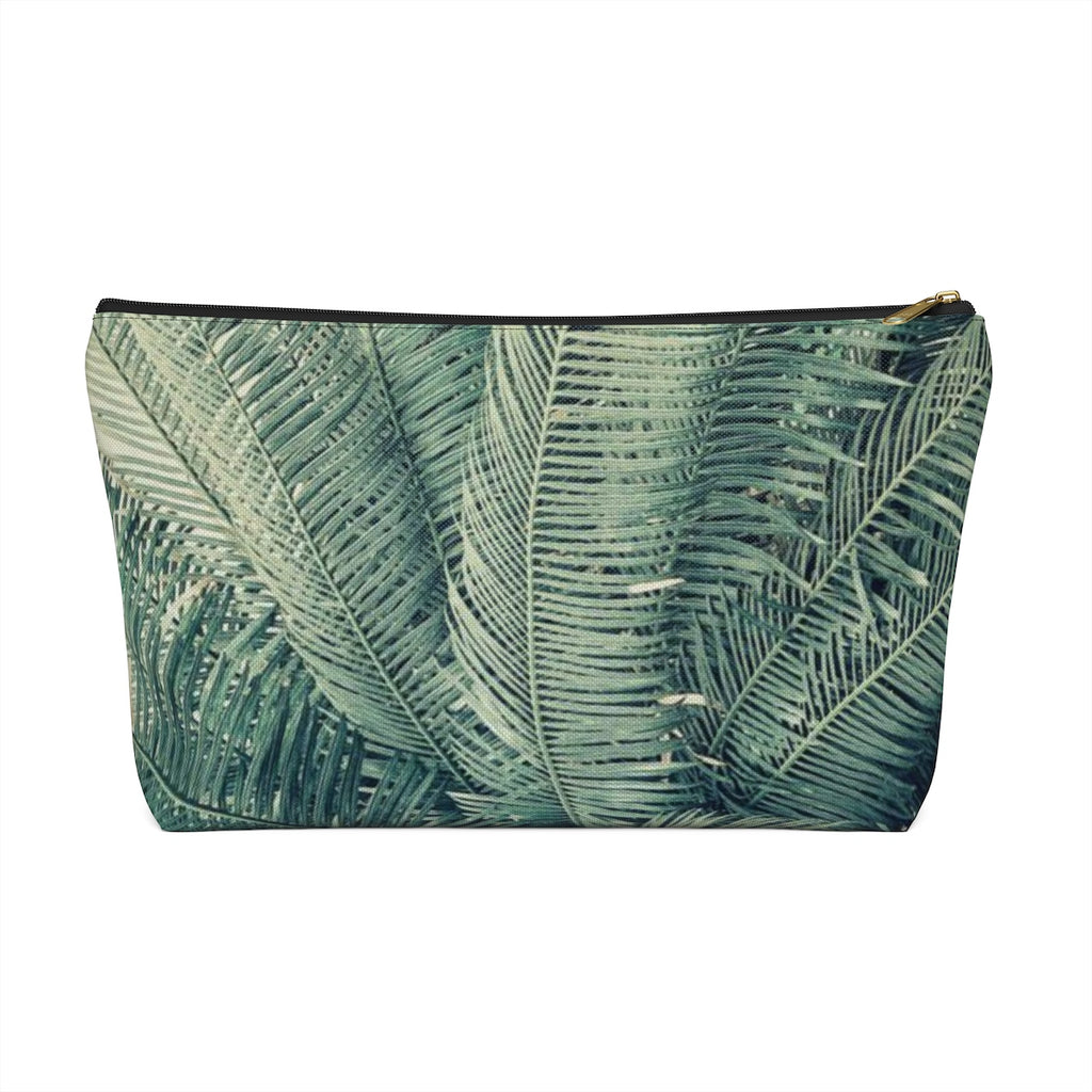 Makeup Bag Palm Tree Large Front