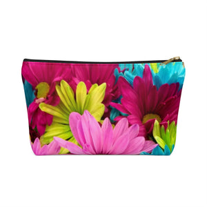 Makeup Bag Colorful Daisies Small Front