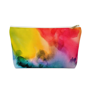 Makeup Bag Rainbow Watercolor Small Front