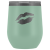 Wine Tumbler Lips in Teal