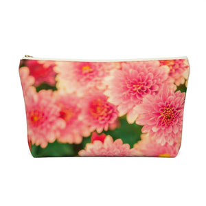 Makeup Bag Orange Flowers Large Back