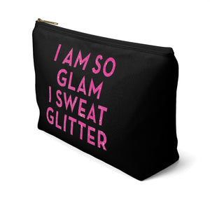 Makeup Bag I Am So Glam I Sweat Glitter Large Right Side