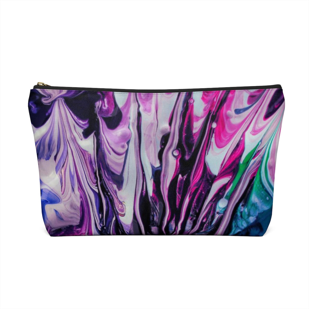 Makeup Bag Abstract Paint Large Back