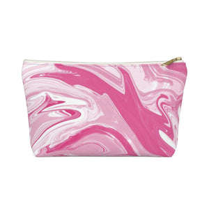 Makeup Bag Pink Marble Small Front
