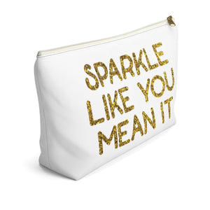 Makeup Bag Sparkle Like You Mean It Large Left Side