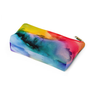 Makeup Bag Rainbow Watercolor Small Bottom