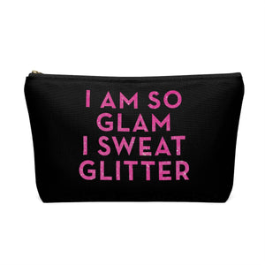 Makeup Bag I Am So Glam I Sweat Glitter Large Back