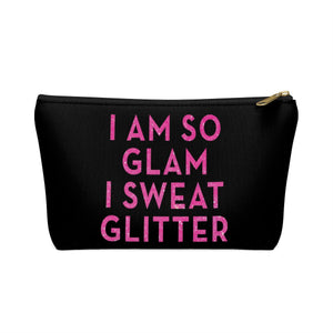 Makeup Bag I Am So Glam I Sweat Glitter Small Front