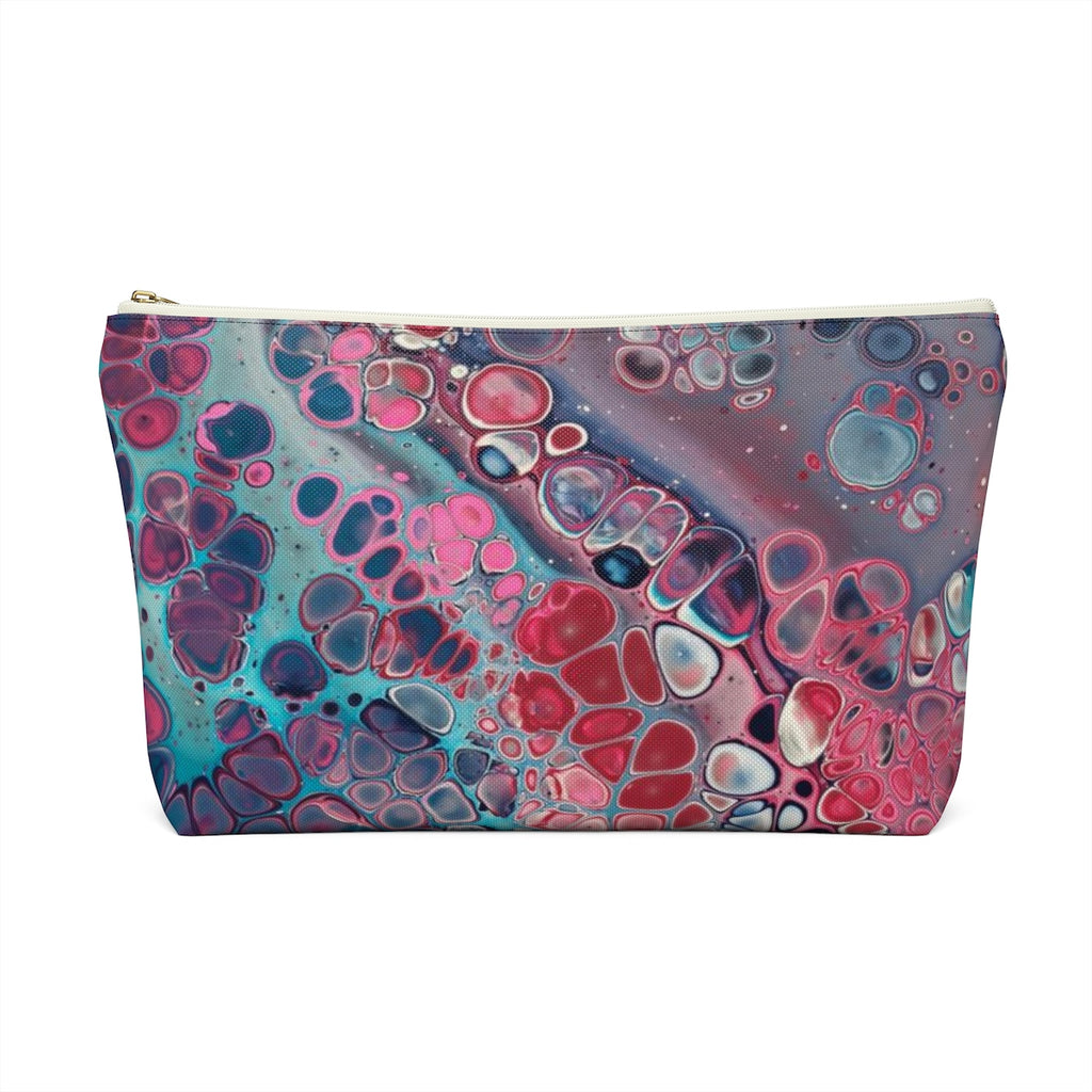Makeup Bag Modern Art Large Back