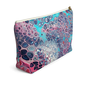 Makeup Bag Modern Art Large Left Side