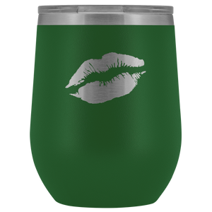 Wine Tumbler Lips in Green