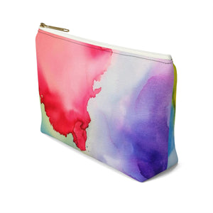 Makeup Bag Rainbow Watercolor Small Right Side