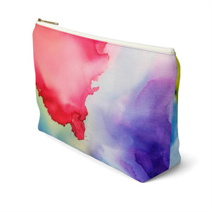 Makeup Bag Rainbow Watercolor Large Right Side
