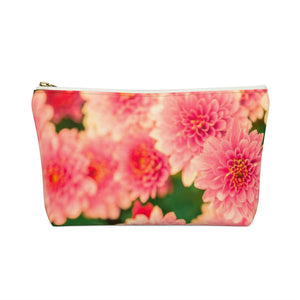 Makeup Bag Orange Flowers Small Back