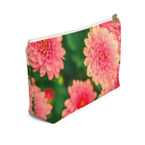 Makeup Bag Orange Flowers Small Left Side